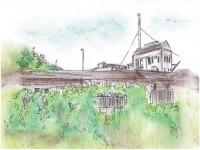 Budynek dawnej fabryki tektury - szkic
